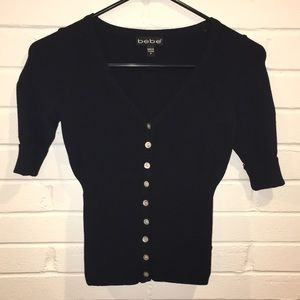 bebe - Fitted Button Down Top
